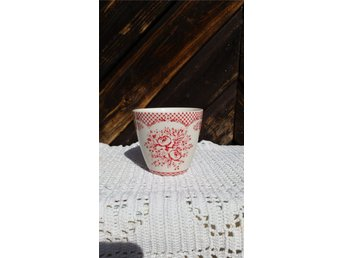 Lattemugg, Stephanie red, h:9cm, d:10cm, Greengate