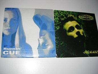 2 cd singlar - CUE - burnin' / MALTEX - varning ! - cds (cd)
