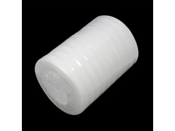 I RULLE (50 YARD = 55,78 M.) VIT ORGANZA BAND  10 MM BRED