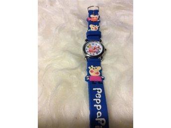 Peppa pi9 små grisars klockor i blått rostfritt stål längd 20 cm zilicon - Skärblacka - Peppa pi9 små grisars klockor i blått rostfritt stål längd 20 cm zilicon - Skärblacka