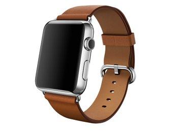 Javascript är inaktiverat. - Ljungby - Klassiskt Spänne till Apple Watch 38 mm. Klassisk design i läder med spänne i rostfritt stål. Det här armbandet med sin klassiska design tillverkas av läder som åldras naturligt och med tiden får en vacker patina. Färg: Brown Storlek: 3 - Ljungby