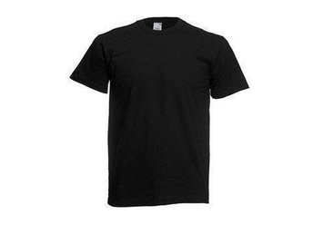 5 st Fruit of the loom orginal T-shirt - Svart, Strl S