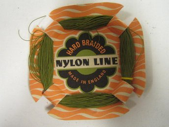 Fiskelina från -50 talet.The Catchy Green Braided Nylon Line.Ny, fr järnhandel