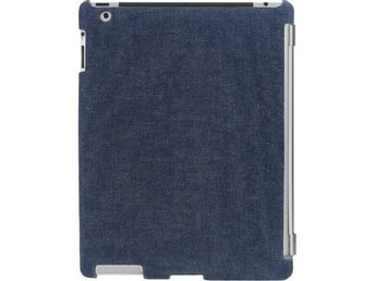 Sanho HyperShield Snap On iPad2 skal, passar Smart Cover, jeansblå
