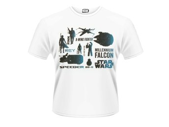 STAR WARS- BLUE HEROES CHARACTER T-Shirt - Large