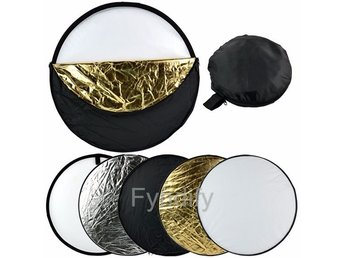 5 in 1 Photography Studio Multi Photo Collapsible Light Reflector 60cm
