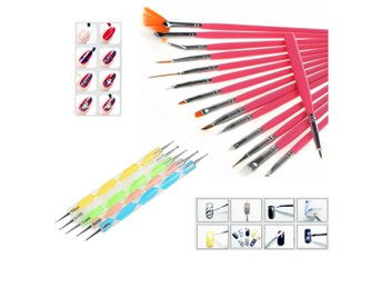20PCS Women's Nail Art Design Dotting Painting Polish Brush Pen Tools Set