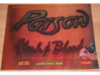 POISON - FLESH & BLOOD, UNSKINNY BOP, TIDNINGSANNONS 1990