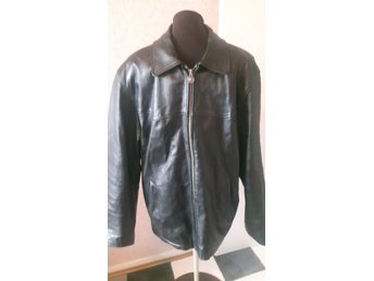 svart Petroff Leather silver jacka stl XL