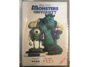 Disney Pixar DVD Monsters University Svenskt tal INPLASTAD