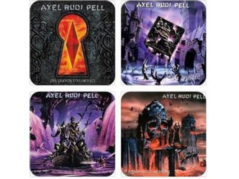 AXEL RUDI PELL COASTERS - Set of 4