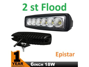 2 st 18W Epistar LED Backljus Arbetsbelysning extraljus , IP 67 Flood Beam