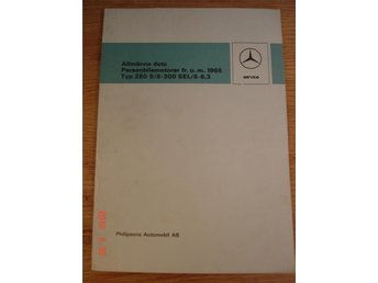 Mercedes Tekniska data 1968, intern introduktion