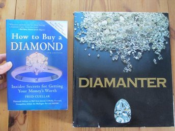 "2 böcker om diamanter, ""Diamanter"" och ""How to buy a diamond"""