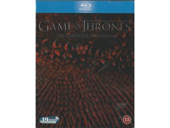 GAME OF THRONES BOX - SEASONS 1-4 -19 DISC(BLU-RAY -SVENSKT)