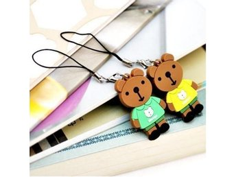 He&She Pair Lovers bears Pendant Chain Mobilsmycke
