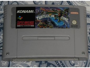 Super Nintendo/SNES: Turtles in Time (SCN/svensksålt)
