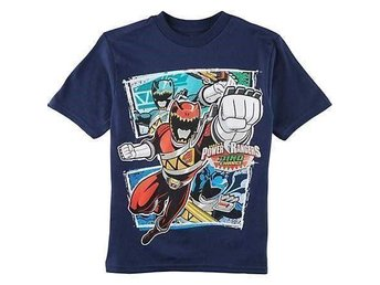 POWER RANGERS DINO CHARGE T-Shirt, Marinblå, Stl. 7, ca. 122/128, Helt Ny! - Miami - POWER RANGERS DINO CHARGE T-Shirt, Marinblå, Stl. 7, ca. 122/128, Helt Ny! - Miami