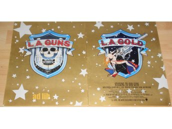 L.A. GUNS - L.A. GOLD, STICKING TO OUR GUNS, STOR TIDNINGSANNONS 1990