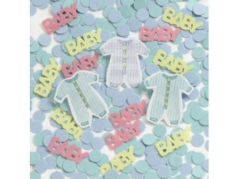 Baby Konfetti - Baby Clothes babyshower dekorationer dopdekorationer