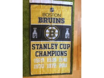 Boston Bruins flagga Chara Bergeron Marchand NHL