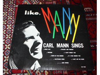 CARL MANN Like Mann 1st LP Philips Int Rockabilly DJ copy