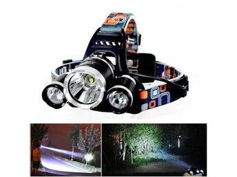 6000Lm 3x CREE XM-L T6 LED Flashlight Headlamp Rechargeable Headlight Torch