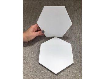 Hexagon kakel Vit blank 15/17 - Solna - Hexagon kakel Vit blank 15/17 - Solna