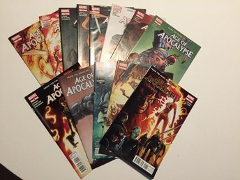 Javascript är inaktiverat. - Johanneshov - Age of Apocalypse (2012) #1-13 Rea 259 sek!!! 13 issues for 259 sek!!! Cover by Humberto Ramos. Written by Dave Lapham. Art by Roberto De La Torre. Spinning Directly Out Of Uncanny X-Force The Amazing X-Men Have Lost And The Evil Weapon X Is - Johanneshov
