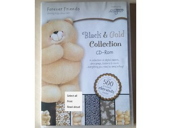 Black & Gold Collection - 500Printable Elements - PC Spel