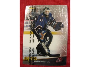 OLAF KOLZIG WASHINGTON CAPITALS - TOPPS FINEST 1998-1999 - 98-99