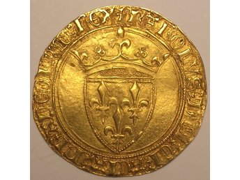FRANKRIKE - Ecu d'or a la Couronne präglad 1394