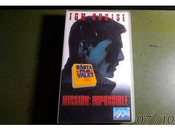 Mission Impossible Action VHS Ny Inplastad - Tom Cruise Svensk text