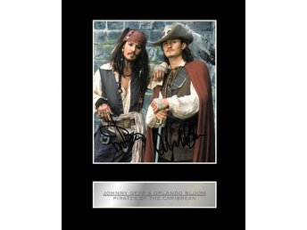 Johnny Depp & Orlando Bloom Limited Edition canvastavla en av 50 gjorda