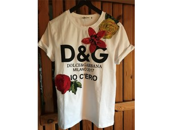 Dolce & Gabbana Floral Embroidery Tshirt