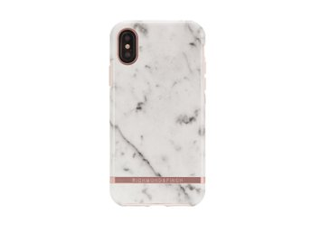 Richmond & Finch White Marble skal, Rose gold details, iPhone X