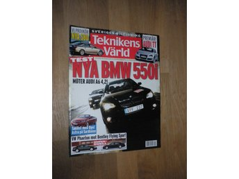 Teknikens Värld nr 9, 2006, BMW 550i Audi A6 VW Bentley