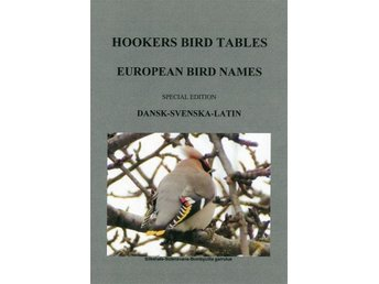 EUROPEAN BIRD NAMES, Dansk-Svenska-Latin