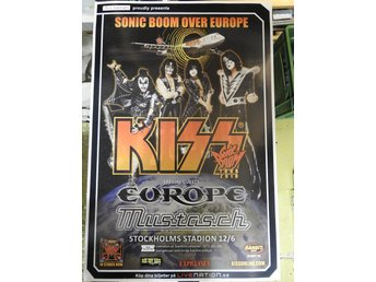 Poster KISS special guests Europe & Mustasch