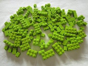 LEGO GRÖN / Ljusgröna Legobitar ca 140 bitar 2x2, 2x3, 2x4 mfl, Nyskick! - Solna - LEGO GRÖN / Ljusgröna Legobitar ca 140 bitar 2x2, 2x3, 2x4 mfl, Nyskick! - Solna
