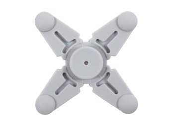 Quadrangle Fidget Spinner Silikon - Grå