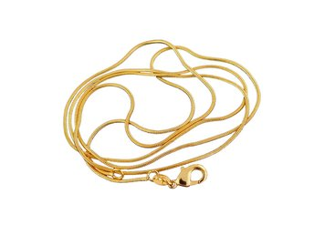 Guldkedja (ormlänkskedja) - 18K - Guldfylld - längd  50 cm - bredd  ad16e83530b18