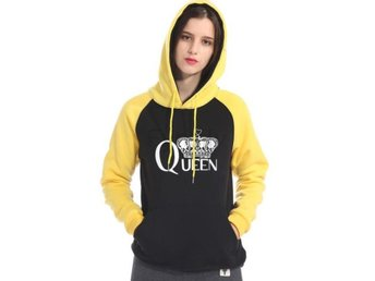 Damtröja sweatshirts femme hip-hop fitn yellow black L