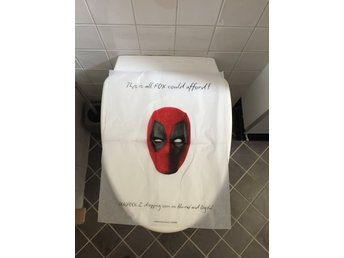 Deadpool 2 toalettstolsskydd toilet cover sdcc