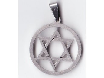 HEXAGRAM  hänge  stainless steel  NY