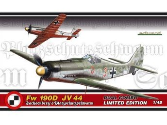 Eduard 1/48 Focke Wulf Fw 190D JV 44 Grunherz Dual DUAL COMBO - Skoghall - Eduard 1/48 Focke Wulf Fw 190D JV 44 Grunherz Dual DUAL COMBO - Skoghall