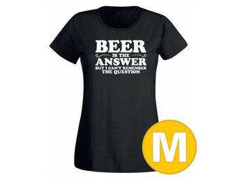 T-shirt Beer Is The Answer Svart Dam tshirt M