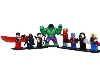 Marvel Avengers Superheros Minifigurer 8 st med Stor HULK snabb frakt - Hudiksvall - Marvel Avengers Superheros Minifigurer 8 st med Stor HULK snabb frakt - Hudiksvall