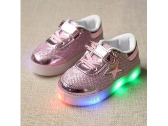 Barnskor Glowing Sneakers LED Strlk 28 Rosa