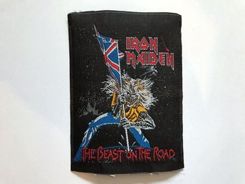Vintage patch Iron Maiden The Beast on the road tygmärke